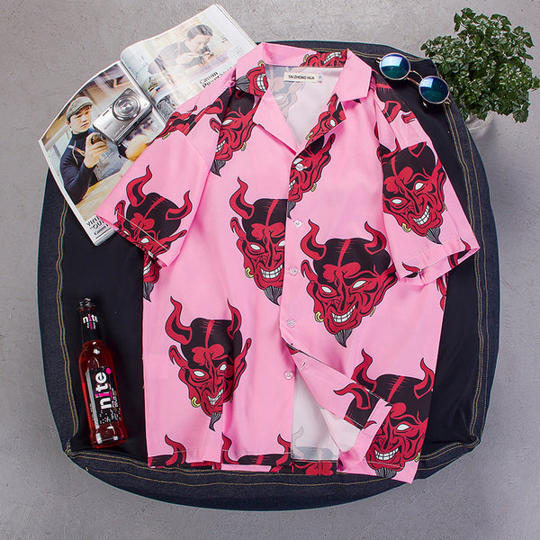 Hawaiian Casual Shirt Harujuku Hip Hop Japanese Streetwear Shirt