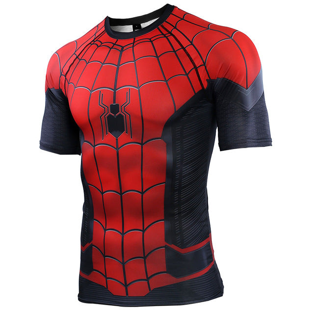 Spider Man Far From Home 3D Printed T shirts Men Compression Shirts Raglan Sleeve 2019 Short Sleeve Cosplay Costume Tops Male