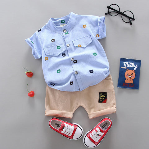 Baby Boys Clothing Suit New Feather Print Set Infant Boys Clothes Sets