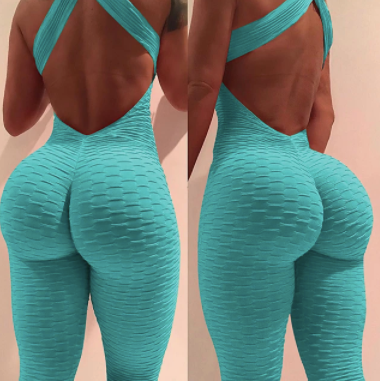 Yoga fitness gym workout high waist leggings bodysuit