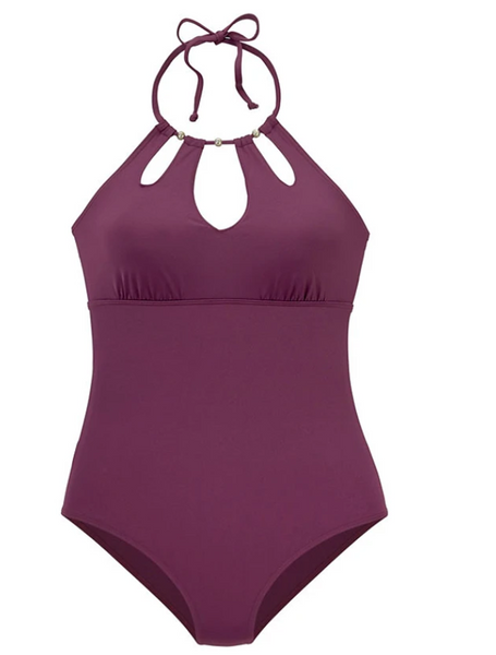 Women's Sporty Halter Cheeky One-piece Swimwear Swimsuit
