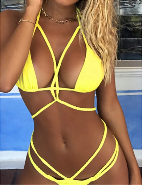 Women's Halter Neck Bikini Swimwear Swimsuit