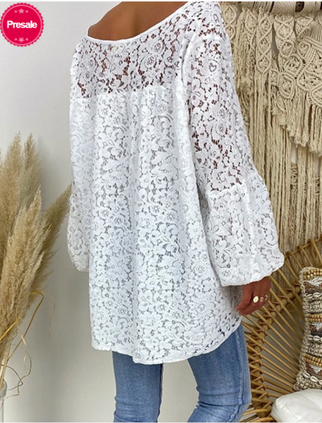 Daily Casual Lace Loose