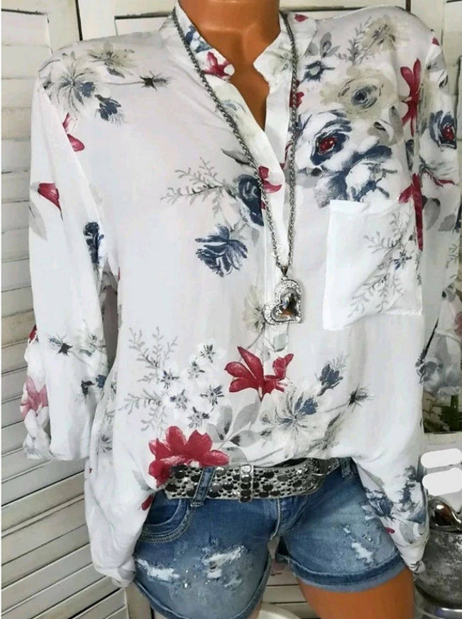 Going out Shirt  Floral White