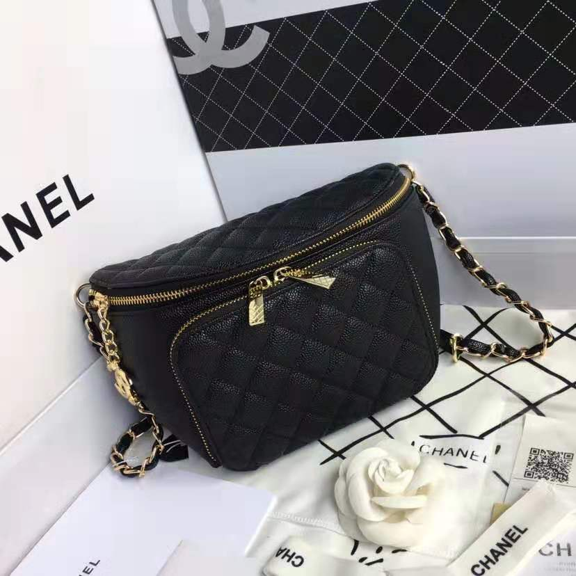 CHANEL Perforated CC Accordion Bag