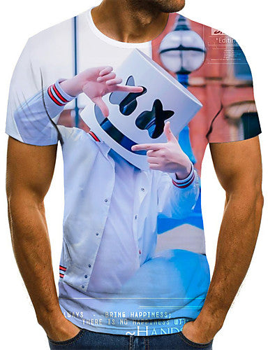 Men's Daily T-shirt - 3D Blue