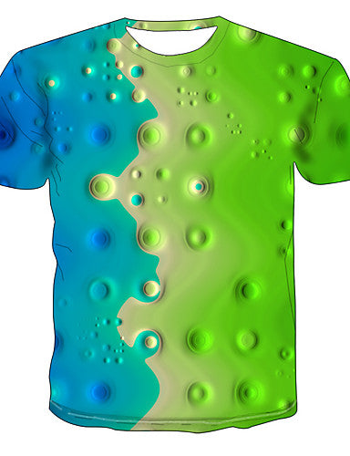 Men's Daily T-shirt - 3D Green