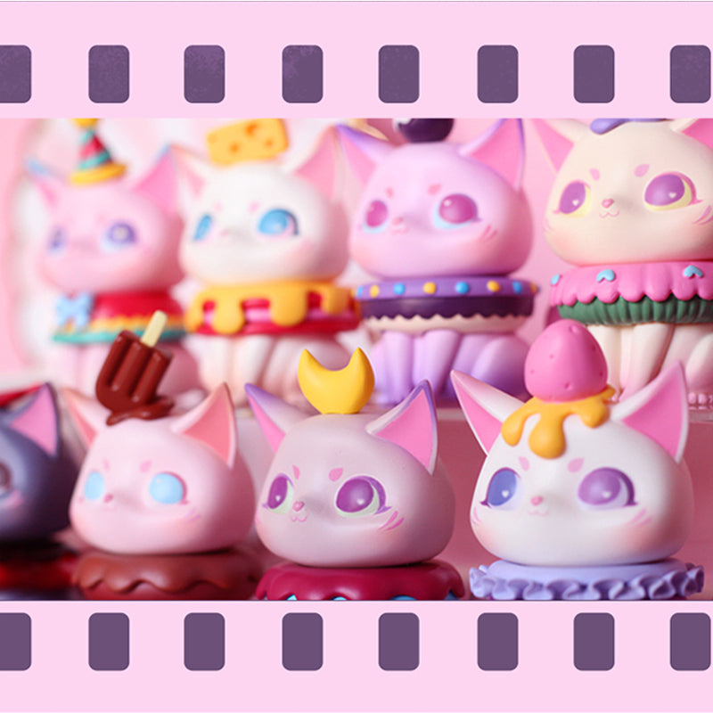 kawaii Mio Teatime series Cat Cartoon Blind Box Random Box Toys Figure Dessert Kawaii Cute Gifts For Girls Collectible toys