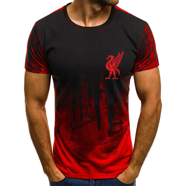 Liverpool Jersey T Shirt Champions League Final Madrid 2019 O Neck 3d Printing Liverpool T-shirt