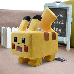 24cm Square Pixel Pikachu Plush Toys Soft Kawaii Plush Stuffed Animal Anime Characters Doll Kids Toys Children Birthday Gift