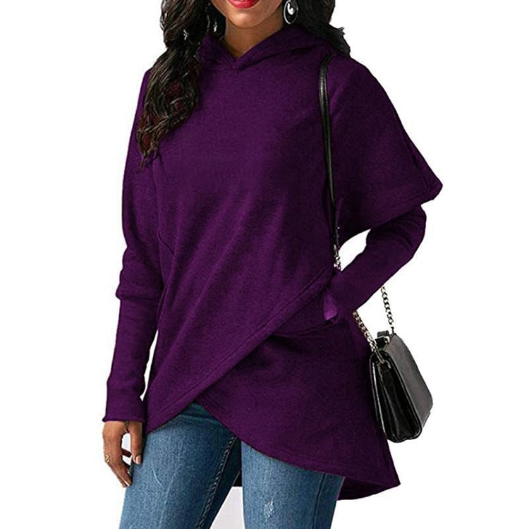Autumn Winter Plus Size Long Sleeve Pocket Pullover Hoodie