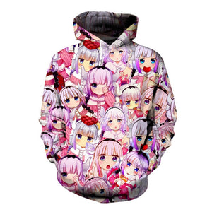 Naturally Cute Anime Hoodie Fashion 3d Sweatshirt