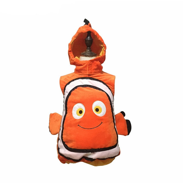 Deluxe Nemo Cosplay Costume Dress Up Fish Clownfish From Pixar Animated Film Finding Nemo Halloween Christmas Cosplay Costume