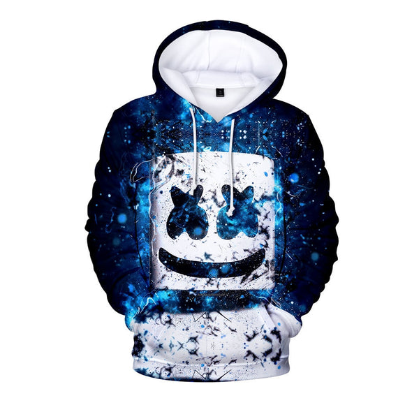 MarshmelloW Unisex DJ Hoodie 3D Portrait Printed Hooded Women's Pullover Cool Fashionable Sweatshirt for