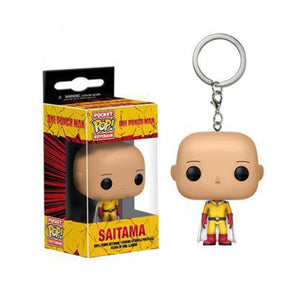 Funko Pop Pocket One Punch Man Keychain Saitama Action Figure Toys