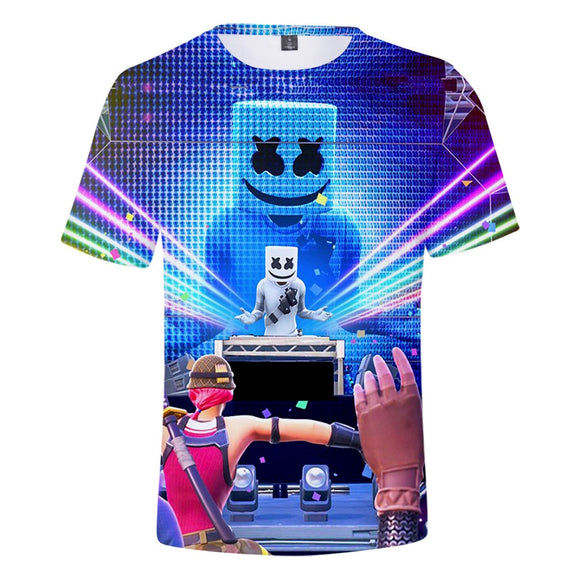 MarshmelloW 3D T-shirt Dotcom cosplay short sleeve summer fashion clothing music party children's clothing cool shirt