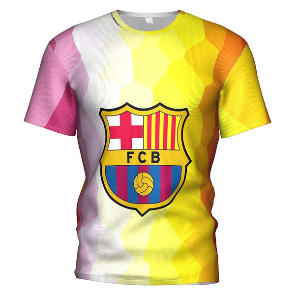 3d T Shirt Fc Barcelona 2018 2019 Soccer Jersey Football T-shirt Barcelona Boy/kids Barcelona Tracksuit Messi Mens Gym Clothing