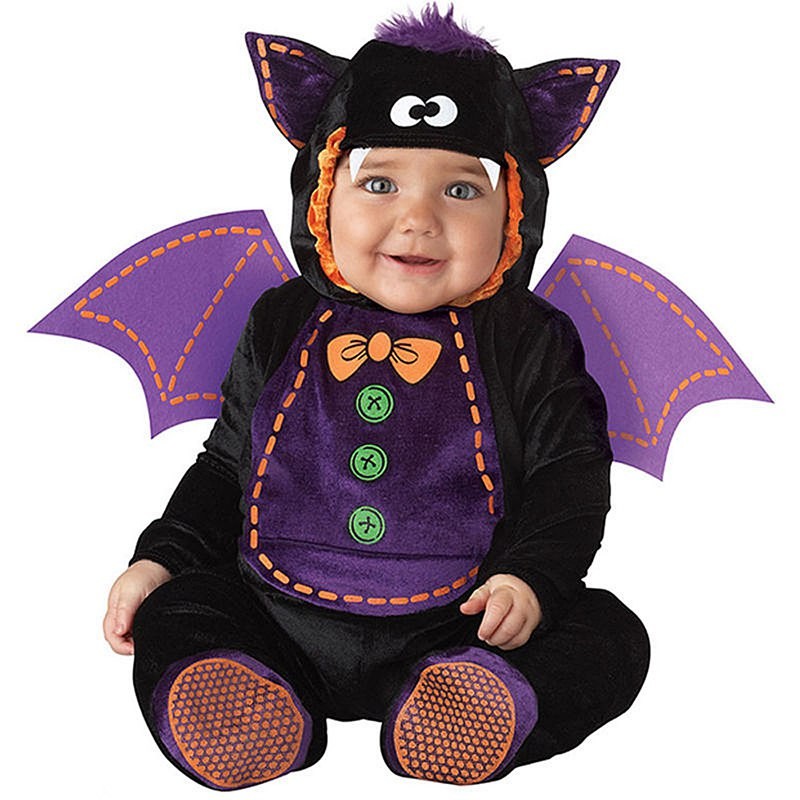 New Infant Toddlers Baby Boys Girls Bat with Wings Costume Halloween Party Cosplay Costumes for Christmas Purim Holiday Jumpsuit