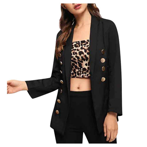 MUQGEW Women Fashion Long Sleeve Coat Elegant Turn-Down Collar Pocket Blazer Jacket high quality dropshiping 2019