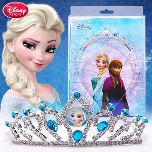 Disney Frozen 2 Elsa Crown Makeup Toys Princess Anna Sofia Snow Whtie Tiara Heart Jewel Disney Elza Girl Toys Kids Makeup Set