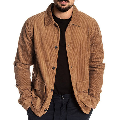 Corduroy Jackets Men Autumn New Couple Block Button cardigan thin coat Tracksuit Coat Man Hip Hop Jacket Coat Women 929