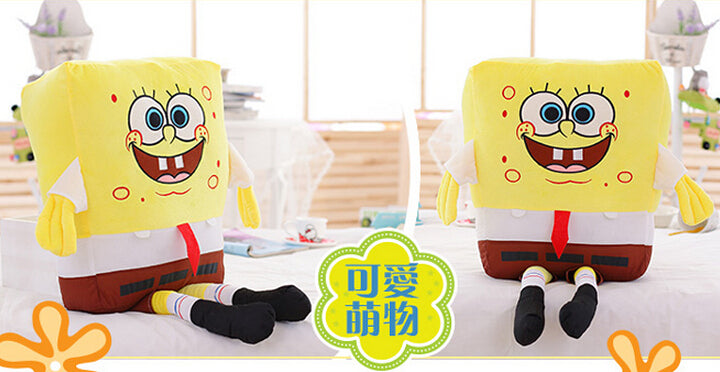 50CM 1 PCS Sponge Bob Toys Pillow Child Baby Toys Stuffed Plush Dolls Hot Sale High Quality Brinquedos Special Offer