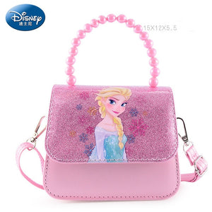 Disney Frozen 2 Purse Handbag Princess Anna Elsa Bag for Girls Portable Cosmetic Multi-purpose Storage Coin Golden Bags