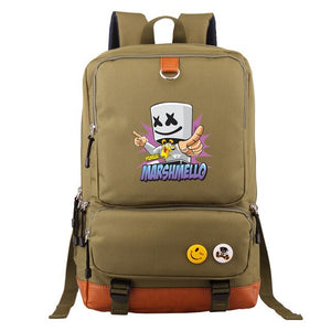 Marshmello school bag Baida electronic music DJ Cotton Candy celebrity inspired shoulder backpack cross-border exclusively for w