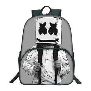 Cross-Border Selling DJ Cotton Candy Marshmello Backpack-Coated round Bag School Bag Primary School STUDENT'S Opening Gifts