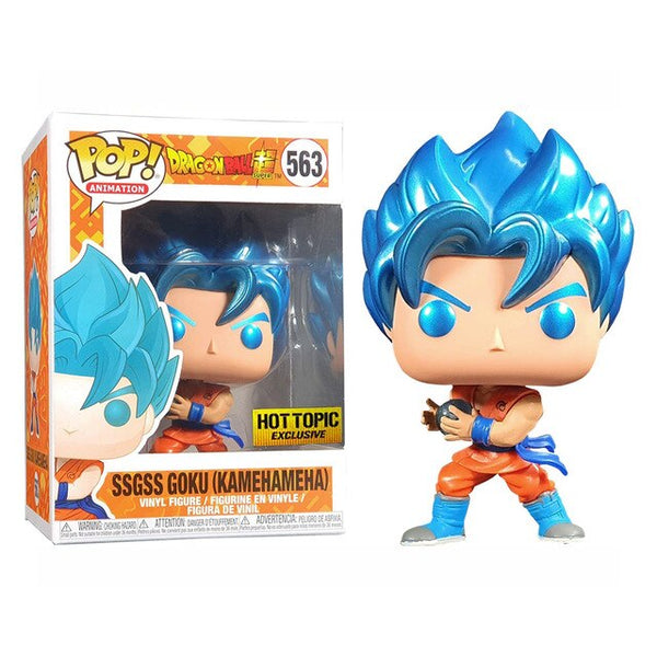 Funko pop DRAGON  BALL SSGSS Goku Kamehameha Figure Toys Collection model toydel Toys
