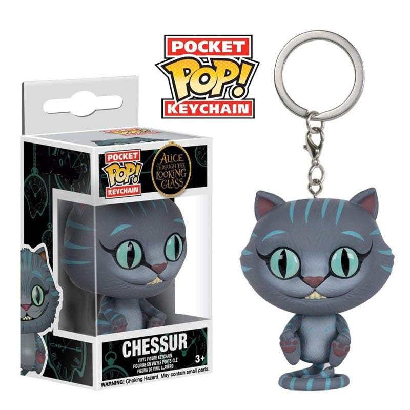 Funko Pop Pocket Alice Through the Looking Glass Keychain Chessur Action Figure Toy