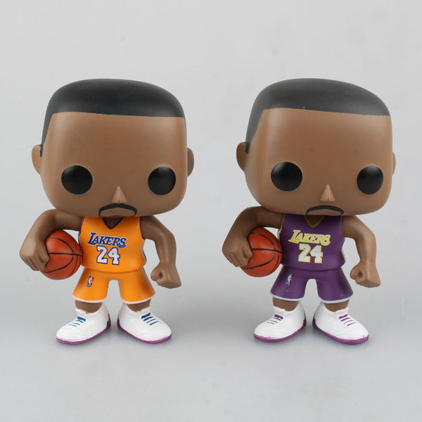10cm Basketball Sports Super Star Doll Kobe Bryant LeBron James Stephen Curry Model Q Version Toys PVC Action Figures With Box