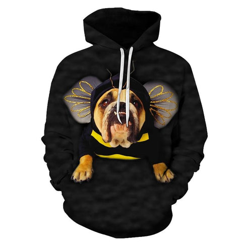 Anime Dog Hoodies Sweatshirts Men Tracksuit Autumn Coats Streetwear Coat 3D Prints Pullover Animal Hoodie European size 6xl