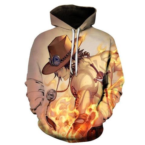 NEW fashion Sweatshirts Men/women Tracksuits Tops Print 3D Hooded Anime One Piece AS Hoodies Thin Autumn Sweatshirts