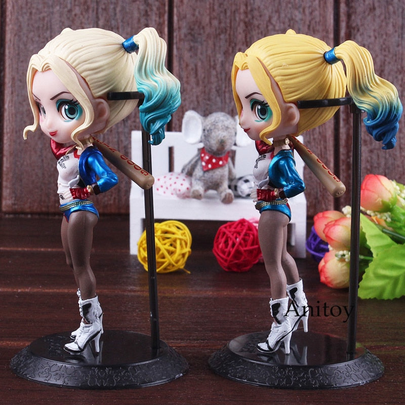 Q posket Suicide Squad Harley Quinn Figure PVC Suicide Squad Figure DC Comics Collectible Model Toy Action toys