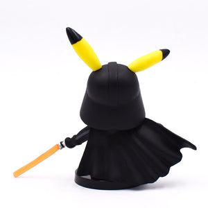 Pikachu Cos Darth Vader Action Figure Pikachu Cos Darth Vader Doll PVC Figure Toy Brinquedos Anime 11CM