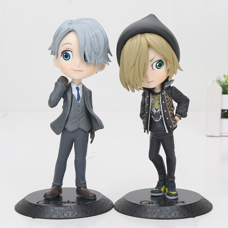 14cm Q Posket Prince YURI!!! on ICE Victor Nikiforov / Yuri Plisetsky PVC Figure Collectible Model Toy