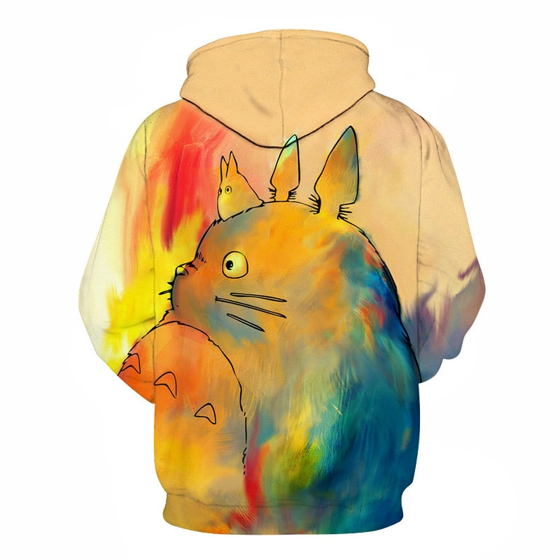 2018 My Neighbor Totoro Anime Cartoon Casual 3D Print Women Men Hooded Hoodies Sweatshirts Anime Hip Hop Harajuku
