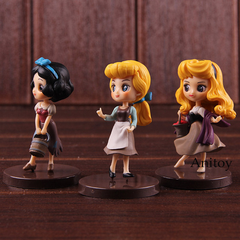 Q Posket Characters Q Posket Petit Snow White Cinderella Briar Rose Aurora Princess Doll PVC QPosket Figure Action Toy 3pcs/set