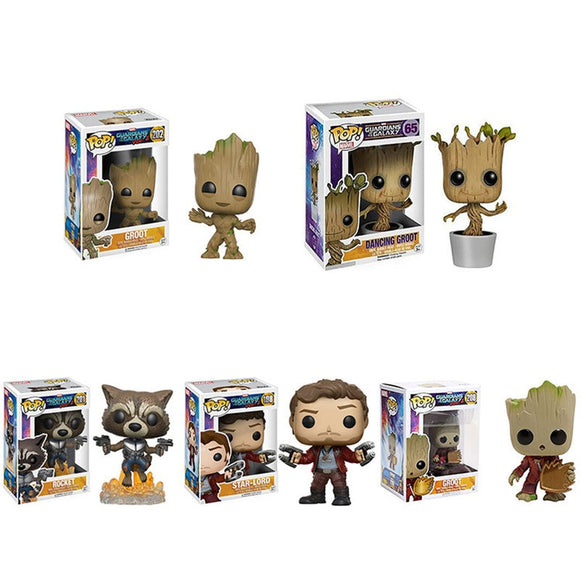Funko POP Guardians of the Galaxy 2 Rocket Grootted Brinquedos Marvel Collection Action Figure