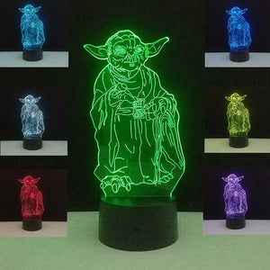 Star Wars Lamp Death Star 3D Night Lights BB-8 R2D2 Master Yoda USB Colorful Led Table Lamps Bedroom Home Decor Gifts Luminaria