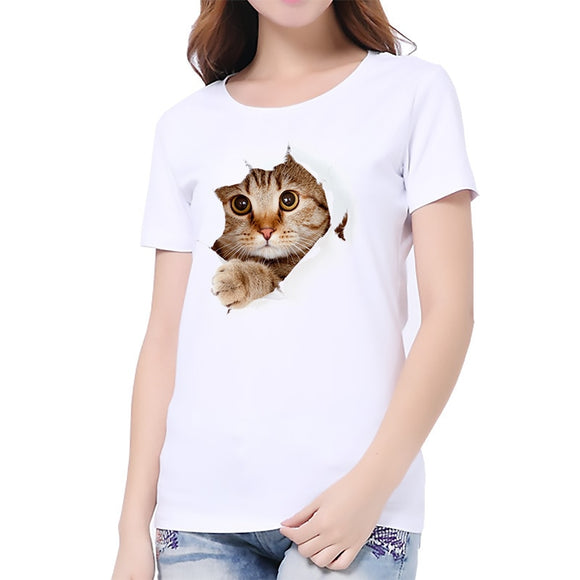 Lovely Animal Printed Summer T Shirt For Women Harajuku Funny Korean Style tops Cheap-Clothes-China Plus Size Camiseta Mujer Qy*