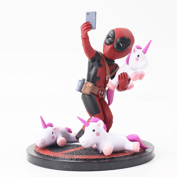 Deadpool Figure Toy Deadpool Unicorn Selfie X-Men Wade Winston Wilson Collectible Model Doll