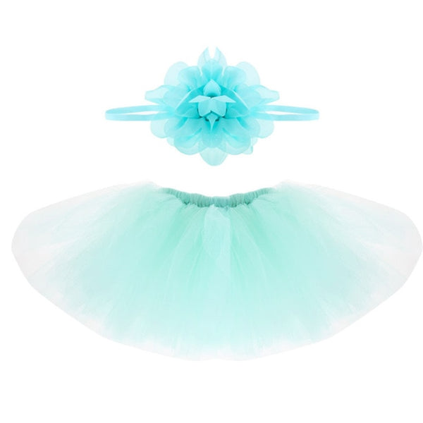 Newborn Baby Photography Props Baby Tutu Skirt Headband Set Photos Props Baby Photography Accessories