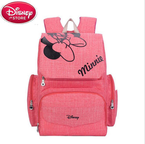 Disney Mickey Minnie Large Mummy Bag Maternity Nappy bag Baby Travel Backpack Outdoors Travel Care Diaper Bag