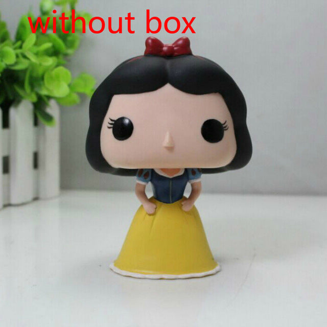 Funko Pop Princess Snow White Elsa Bell Alice Cinderella Action Figures 10cm PVC Model Collection Gift Toys for Girl Birthday
