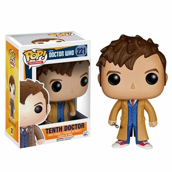 POP Doctor Who Eleventh Doctor / Mr Clever & Tenth Doctor 221# Vinyl Dolls Collectible Action Figures