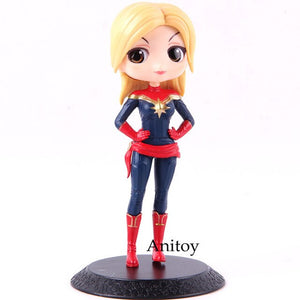 Banpresto Q Posket Captain Marvel Action Figure Black Widow Natasha Romanoff QPosket PVC Collectible Model Toy