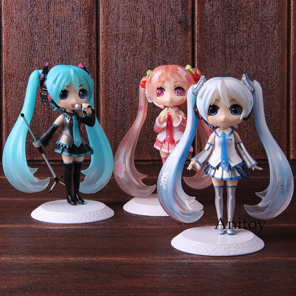 QPosket Q Posket Hatsune Miku Snow Sakura Miku Action Figure PVC Collectible Model Toy