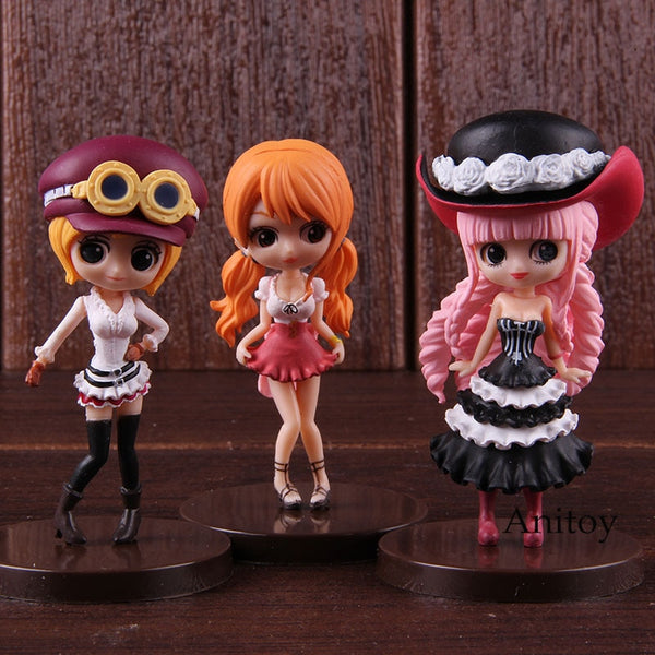 Q posket Hot Toys Anime One Piece Nami Koala Perhona Action Figure Collectible Model Toy 3pcs/set